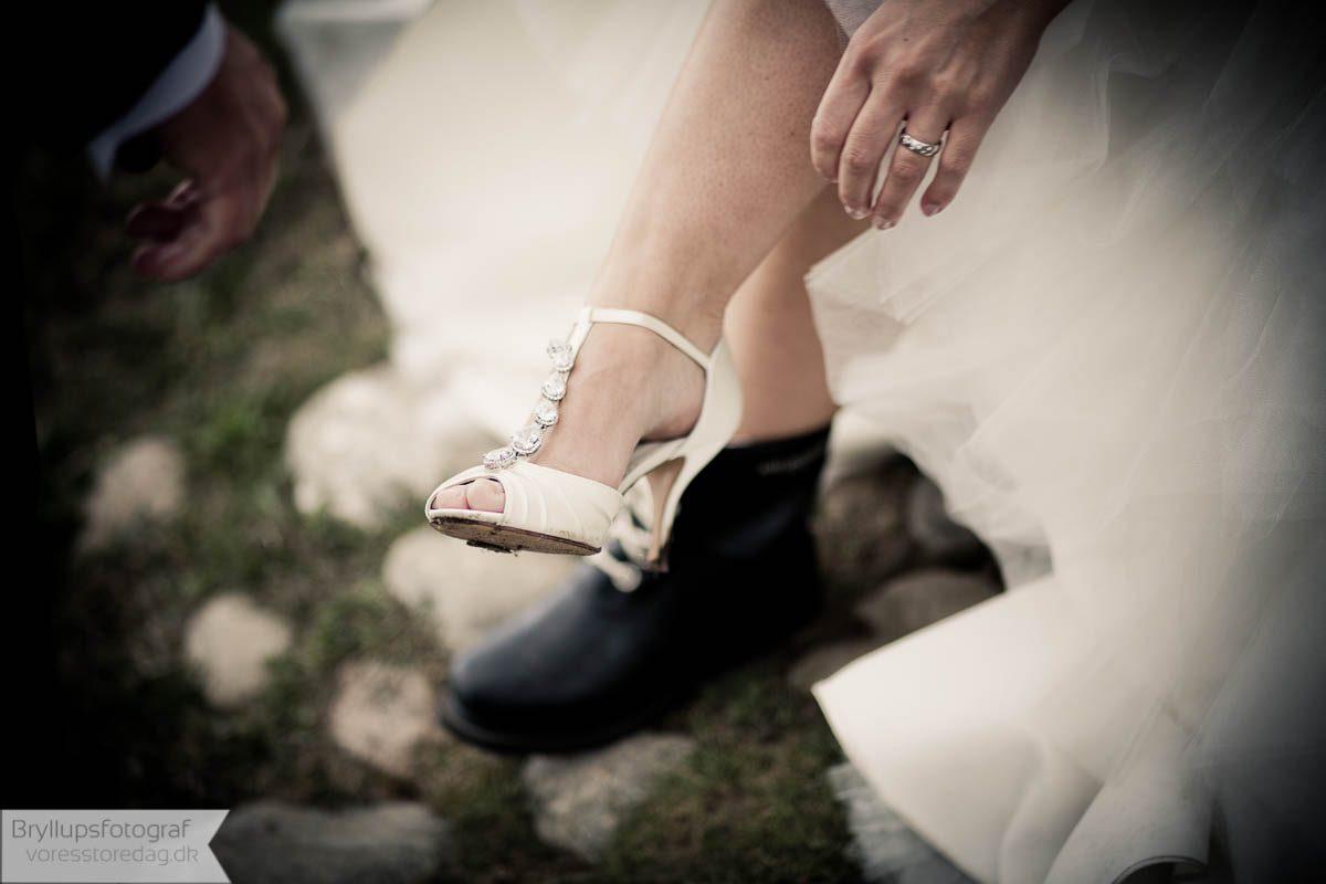 Billeder af brudesko og herresko til bryllup